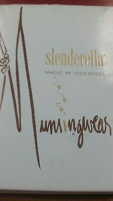 One Pair Stockings Slenderella Magic Taupe Med. 10 Munsingwear in Box VINTAGE