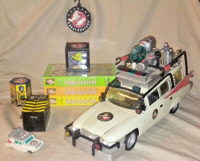 EXTREME GHOSTBUSTERS Mega Bundle Lot w/ tested Ecto-1 vehicle & EGB VHS Tape Lot