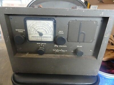 Hallicrafters Sky Courier Vintage Receiver - RARE Untested, AS IS