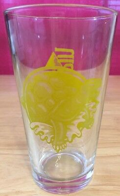 Terrapin Brewing Company Yellow Turtle Pint Glass Discontinued Athens, GA
