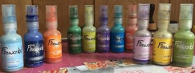 Lot Of 11 Used Bottles Of Fireworks Water Based Ink Spray