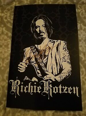 Richie Kotzen Signed Tour 11x17 Poster 2018, Poison, Winery Dogs