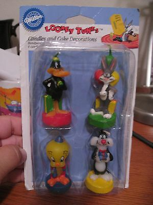 Vint Wilton Looney Tunes Candle Tweety & Bugs Bunny & Daffy, Sylvester Candles