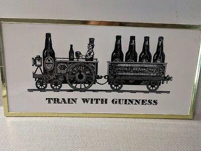 Vintage Plastic TRAIN WITH GUINNESS Pub Bar Tavern Sign Decoration