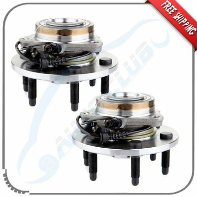 Pair Of 2 Front Wheel Hub Bearing Assembly for Cadillac Chevrolet GMC  W/ABS 4WD