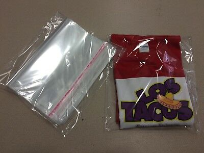"50ct - 10"" x 13"" Clear Poly T- Shirt Plastic Apparel Bags 2"" Flap *BEST QUALITY*"