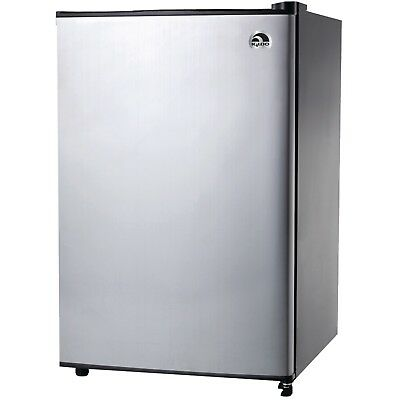 STAINLESS STEEL 2.6 Cu Ft. Compact Refrigerator Mini Freezer ...