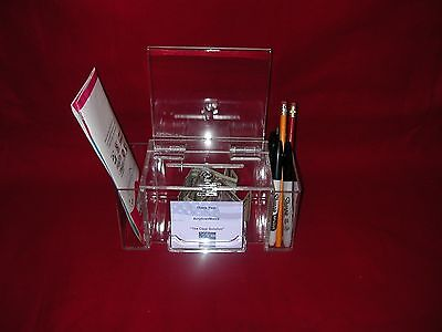 Large All Purpose Box   With Cam Lock, 2- Brochure Pockets & Bus. Card Holder