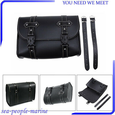 Convenient PU Leather Motorcycle Saddle Luggage Side Back Tail Pouch Storage Bag