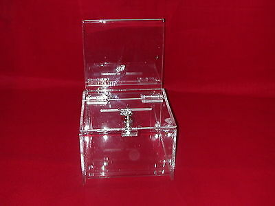 Twelve (12)  -  New  Extra Large  Donation/ballot Boxes With  Lock  & 2  Keys