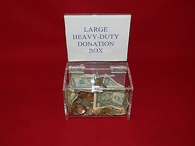 1 Large, Heavy Duty, Donation Box With Key Lock