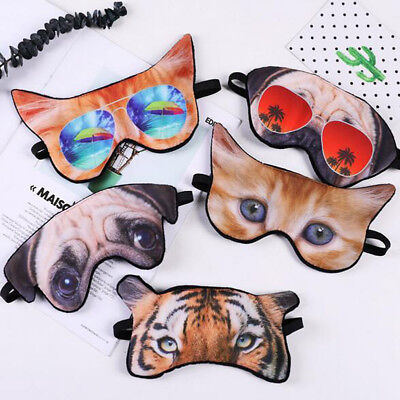 Cute 3D Animal Travel Sleep Rest Eye Shade Sleeping Mask Cover Soft Blindfold