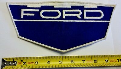 VINTAGE Embroidered Automotive Gasoline Patch (Original) FORD LARGE SHIELD