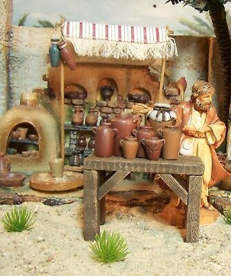 """Table  With Clay Pots  Accessories Can Be Used With 5"""" Fontanini"""