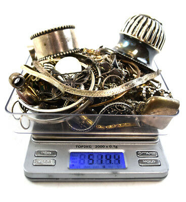 514.4 Grams Sterling Silver .925 - Scrap and Wearable Lot KK