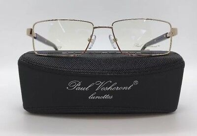 a900d452548a PAUL VOSHERONT LUNETTES Pv372 Gold 23Kg Rimless Eyeglasses Italy 57 ...