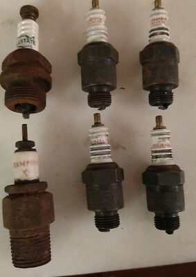 LOOK Vintage Champion J-11 and Allstate Spark PLUG Lot