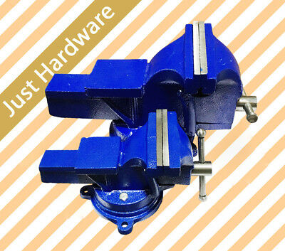 "4 5 8 10"" Super Heavy Duty Bench Vice Swivel Base Grip Clamp 100 125 200 255mm"