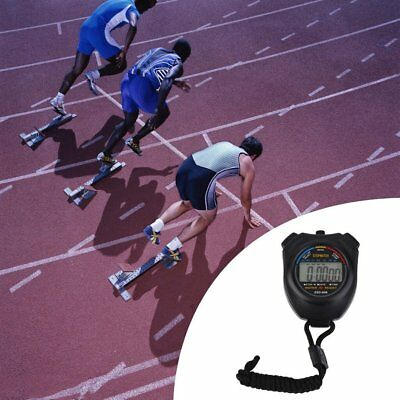 Stopwatch Handheld Digital LCD Sports Stopwatch Chronograph Counter Timer F0