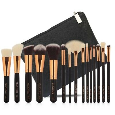 New Professional 15pcs Brushes Set With Natural Hair Makeup Brushes With Bag