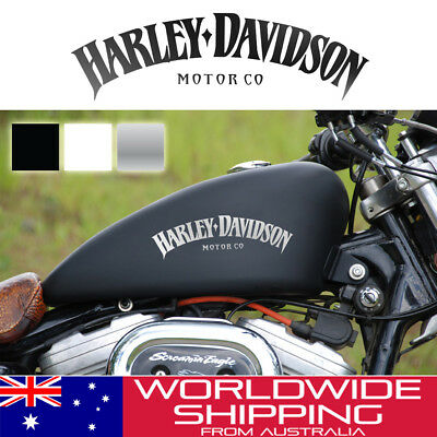 2 x Harley Davidson Tank Stickers Decal Kit Classic Design Logo Motorcycle