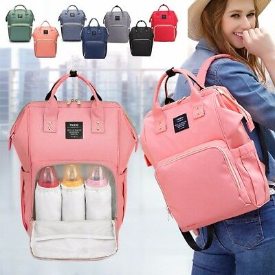 Women Large Capacity Maternity Mummy Bag Baby Nappy Diaper Travel Backpack