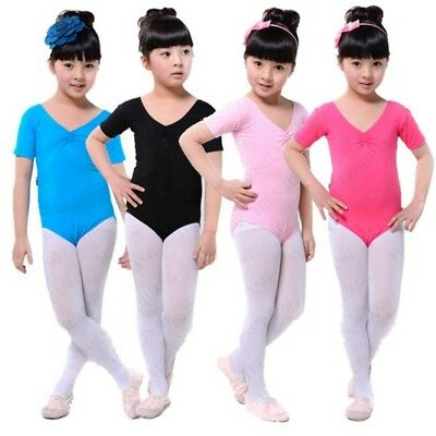 Toddler Girl Ballet Leotard Kids Gymnastics Bodysuit Skirt Dancewear Costumes US
