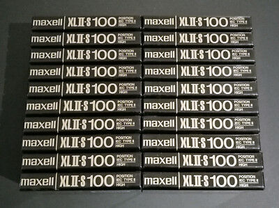 Lot of 20 Maxell XLII-S 100 Type II Blank Audio Cassettes Sealed Made in Japan