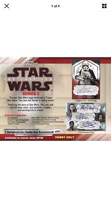 2018 Topps Star Wars The Last Jedi Series 2 FACTORY SEALED Hobby Box