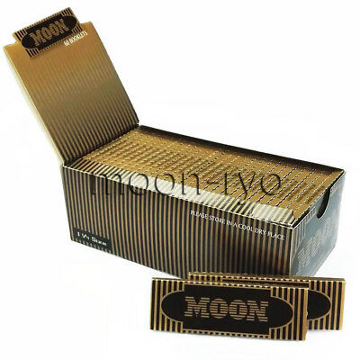 """Moon Gold Cigarette Tobacco Rolling Papers 1 1/4 inch 1.25"""" 77*45mm 2400 leaves"""