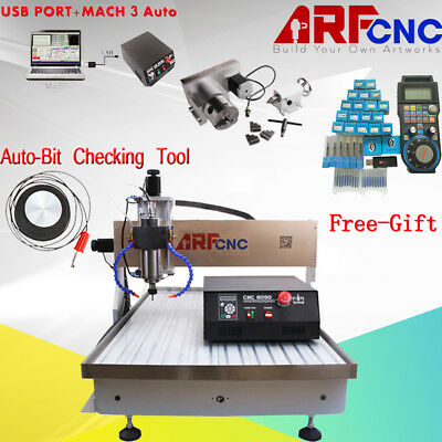 Mach3 USB 4Axis CNC 6090 Router Engraver Drilling Machine Water Cooling 2.2KW US