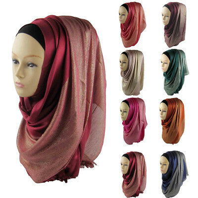 Women Muslim Hijab Wrap Islamic Shawl Scarf Cap Head Cover Gift Noted