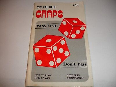 Vintage 1976 The Facts of Craps Booklet by Walter Nolan Gambler's Book Club