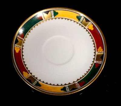 Rare Hand Painted Limoges Saucer By Russian Artist M. Lattry Circa 1925, Paris