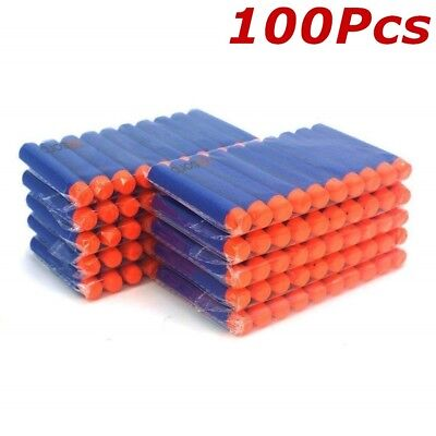 100x Nerf Gun Soft Refill Bullets Darts Round Head Blasters For N-Strike Toy