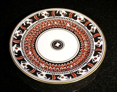 Rare Hand Painted Limoges bread Plate By Russian Artist M. Lattry c.1925, Paris