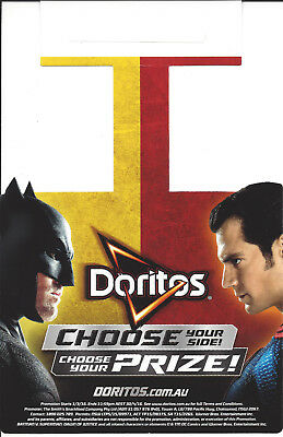 Batman v Superman Doritos Promotional Hanger Ad Henry Cavill Ben Affleck