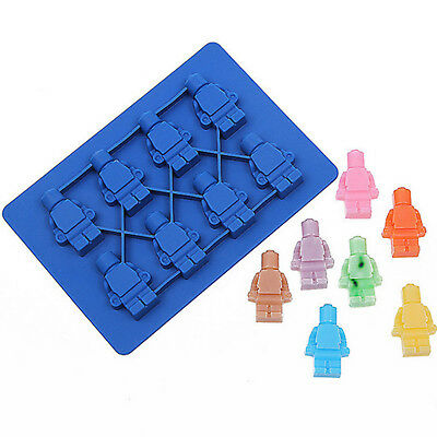 Lego Type Brick Man Figure Silicone Chocolate Ice Cake Mold Mould Party Novelty