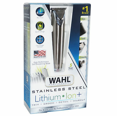Wahl Clipper Stainless Steel Lithium Ion Plus Beard Trimmers for Men Australia