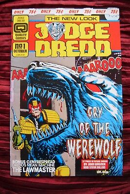 Judge Dredd Cry of the werewolf. No 1 Oct. Excellent  Condition. kept in sleeve