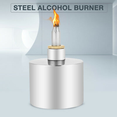 200ml Stainless Steel Alcohol Burner Biology Chemistry Dental Lab Lamp w/ Wick