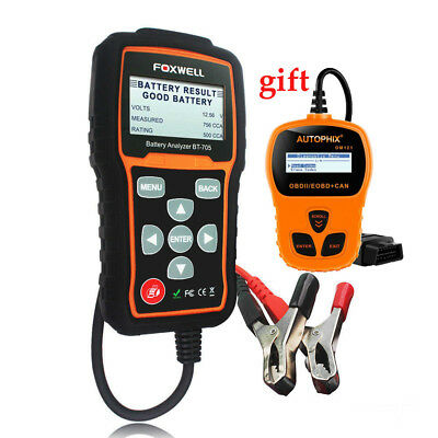FOXWELL BT705 Car 100-2000CCA Battery Analyzer Tester Test for Cars Duty Trucks