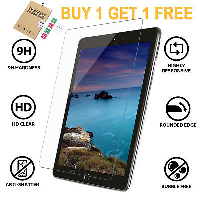 """2x Tempered Glass 9H Screen Protectors For iPad 6th 2018 2017 9.7"""" HD Film Cover"""