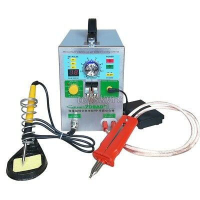 220V SUNKKO 709AD+ Battery Pulse Spot Welder For 18650 + 70B Welding Pen 3 in 1