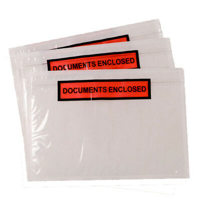 Printed Document Invoice Enclosed Envelopes - Self Adhesive Wallets - A7