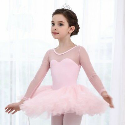 Kids Girl Gymnastics Leotard Ballet Tutu Dress Dancewear Costume Princess Party