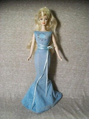 Zodiac Barbie, Virgo, Blue Mermaid Dress w/Face, 2-Tone Blonde Hair