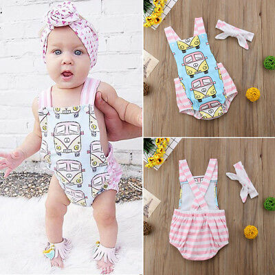 7c1dec2e819 Newborn Kids Baby Girl Stripe Romper Jumpsuit Playsuit Clothes Outfits Summer  US