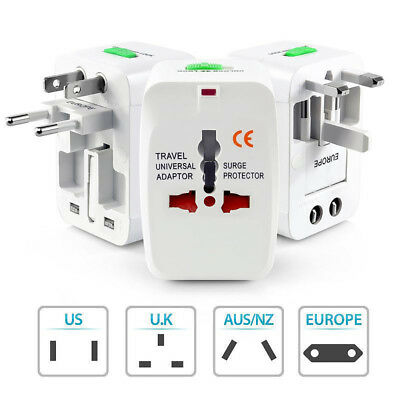 New US to EU Europe Universal AC Power Plug Travel Adapter Charger Converter
