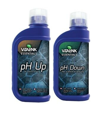 VitaLink Essentials pH Up and Down, Up and Down Easy 1ltr 250ml